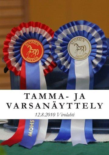 TAMMA- JA VARSANÄYTTELY - Suomenhevonen 100 vuotta