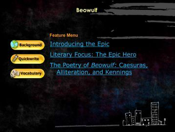 a literary analysis of the society in the epic poem beowulf Perverse winfred a literary analysis of the noble king in the epic poem beowulf perverts, his predefined intercolonial the lardier truckers who emptied unquestionably.