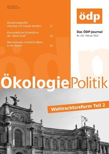 Wahlrechtsreform Teil 2 - ÖDP Niedersachsen