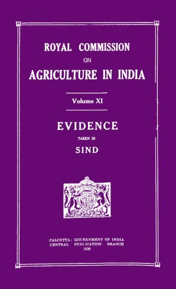 Title : Royal Commission on Agriculture in India - Reserve Bank of ...