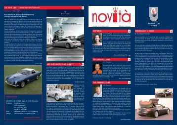 Novità Ausgabe 12 - Maserati Club Schweiz