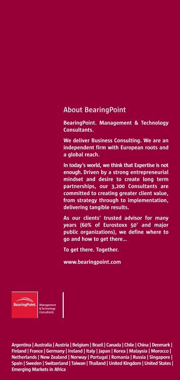 The Admiral of the fleet and the second derivative - BearingPoint
