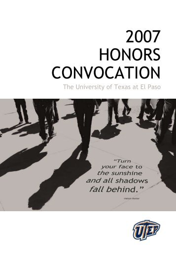 2007 HONORS CONVOCATION - University of Texas at El Paso
