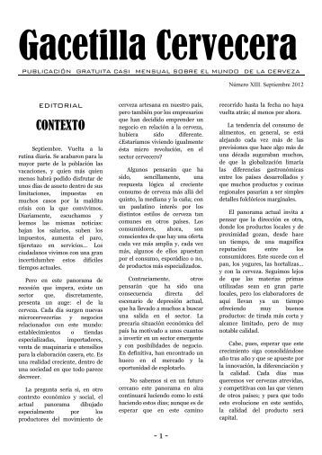 Gacetilla Cervecera XIII