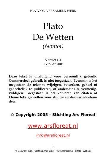 De Wetten (Nomoi) - Ars Floreat