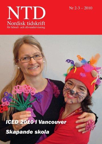 Nordisk tidskrift - Norsk Audiopedagogisk Forening