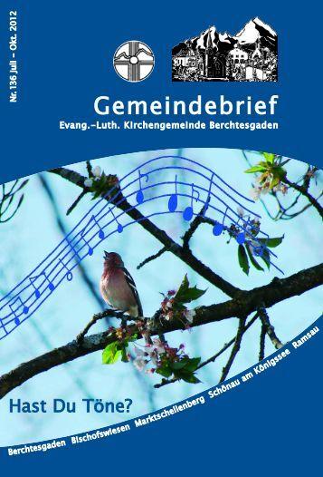 Gemeindebrief - Evangelische Kirchengemeinde Berchtesgaden
