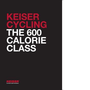 KEISER CYCLING THE 600 CALORIE CLASS - Fitness24