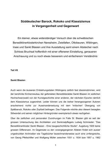 Süddeutscher Barock, Rokoko und Klassizismus in Vergangenheit und ...
