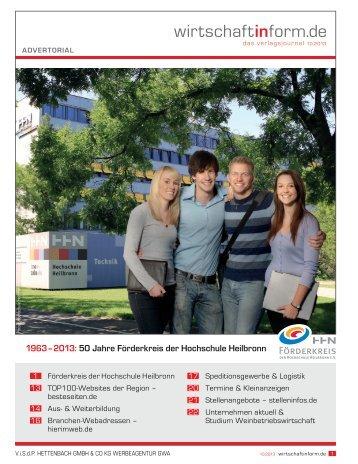 Förderkreis der Hochschule Heilbronn I wirtschaftinform.de 10.2013