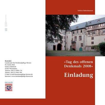 Einladung 2008 - Landesamt für Denkmalpflege Hessen