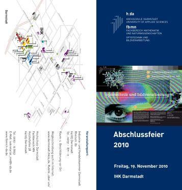 Abschlussfeier 2010 - Fachbereich Mathematik und ...