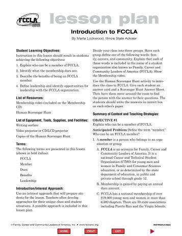 Flowerpots And Families Lesson Plan Fccla