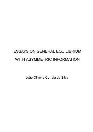 economy equilibrium in infinite thesis Economic studies 87 k _ 1  this thesis is comprised of the following essays which are referred to in the  the equilibrium price becomes infinite1.