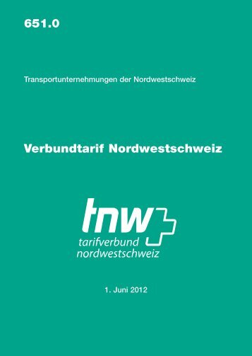 Verbundtarif TNW 530 kB - SBB