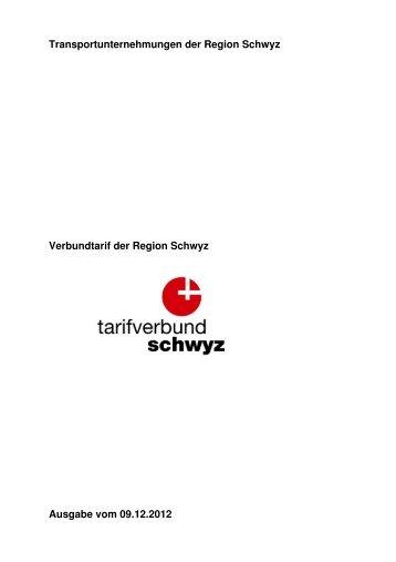 Transportunternehmungen der Region Schwyz Verbundtarif ... - SBB