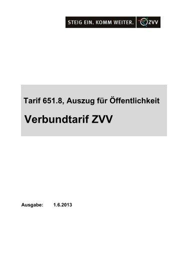 Verbundtarif ZVV - SBB