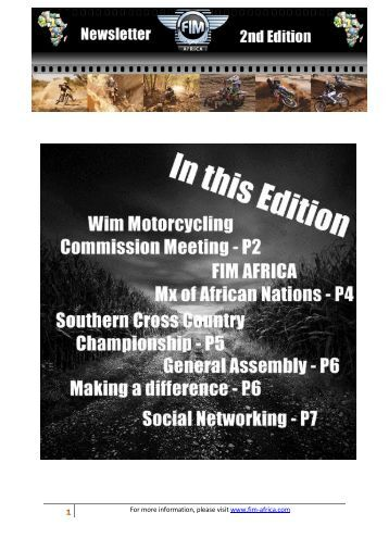 to download Newsletter 2/2012 - fim africa