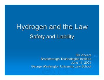 Hydrogen and the Law - Fuel Cells 2000