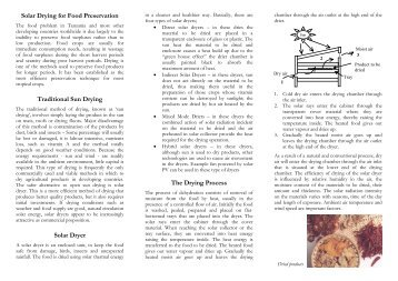 Solar Drying for Food Preservation - The Gaia-Movement