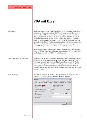 BM VBA mit Excel