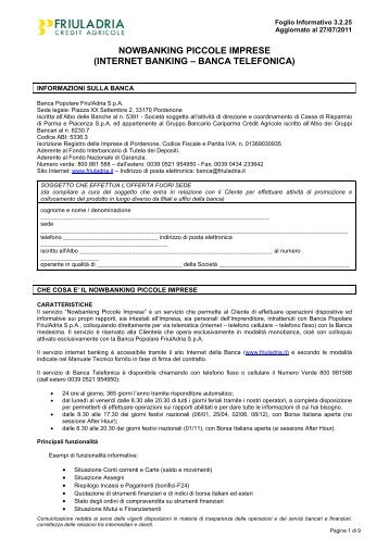 FI 3.2.25 Nowbanking Piccole imprese - Friuladria