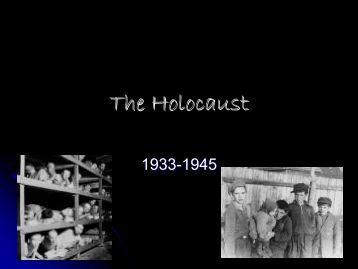 a study of the holocaust The importance of remembering the holocaust teenager charlotte cohen has been chosen to join david cameron's holocaust.