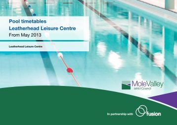 Wymondham Leisure Centre Term Time Timetable 2013 Pdf