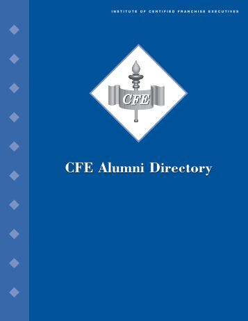 CFE Alumni Directory Book - International Franchise Association