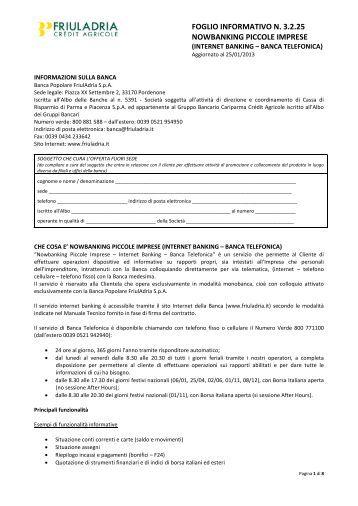 Nowbanking Piccole Imprese - Friuladria