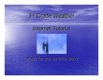 Internet Tutorial - Franklin College