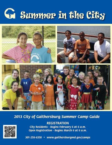 Summer in the City - City of Gaithersburg