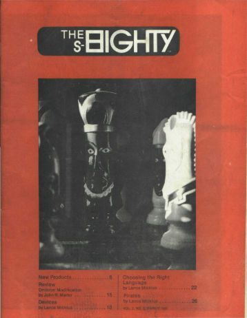 The Eighty Vol 1 No 3 [Partial] (1980)(Softside ... - GameTronik