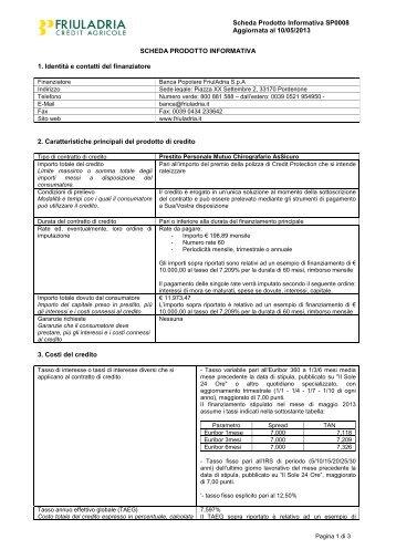 SP0008_Finanziamento AsSicuro Privati - Friuladria