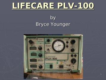 LIFECARE PLV-100 - Frank's Hospital Workshop