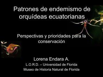 Patrones de endemismo de orquídeas ecuatorianas