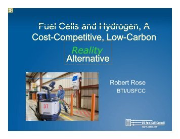 Fuel Cells and Hydrogen, A Cost-Competitive ... - Fuel Cells 2000
