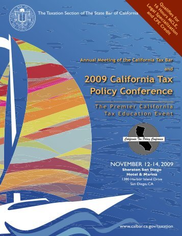 2009 California Tax Policy Conference - California Franchise Tax ...