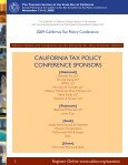 2009 California Tax Policy Conference - California Franchise Tax ... - Page 2