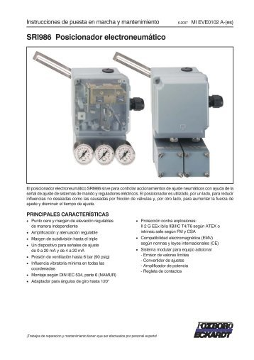 SRI986 Posicionador electroneumático - FOXBORO-ECKARDT ...