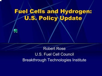 Fuel Cells and Hydrogen - Fuel Cells 2000