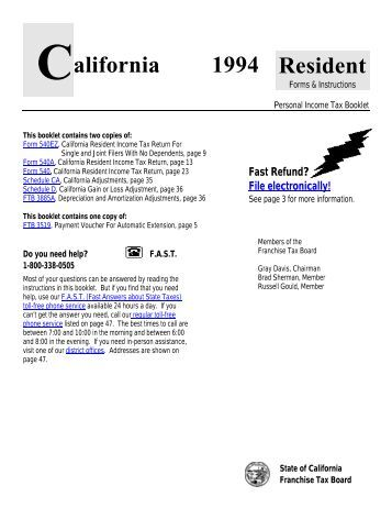 california non resident tax form 540nr