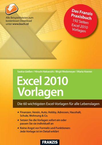 Leseprobe zum Titel: Excel 2010 Vorlagen - Die Onleihe