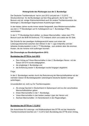 Hintergründe des Rückzuges aus der 2. Bundesliga ... - TTS Borsum