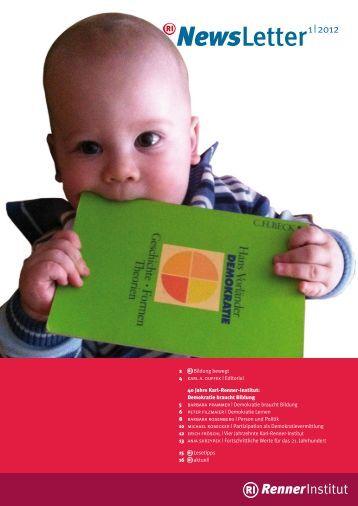 Download Newsletter 1-2012 - Renner Institut