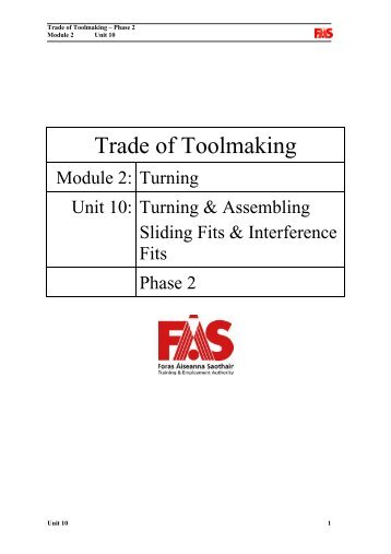 Trade of Toolmaking - eCollege