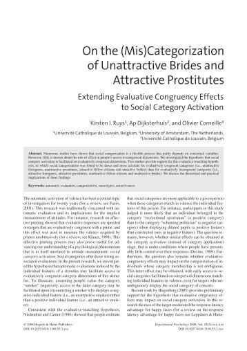 On the (Mis)Categorization of Unattractive Brides and Attractive ...