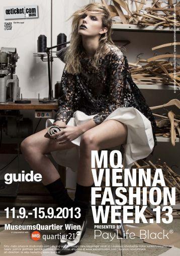 MQ VIENNA FASHION WEEK.13 MAGAZINE