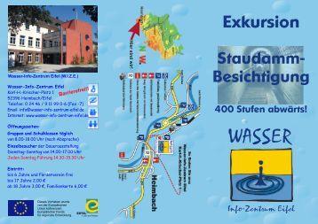 WIZE-Flyer 12 Staudamm-Besichtigung.cdr - Wasser Info Zentrum Eifel