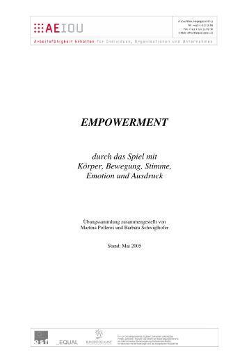 Empowerment durch das Spiel mit Körper, Bewegung ... - AEIOU